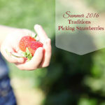 strawberry picking {summer tradition}