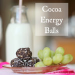 Healthy Cocoa Energy Balls  {recipes}