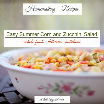 Easy Summer Corn and Zucchini Salad