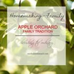 Family Tradition – the apple orchard {photography friday}