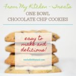 one bowl chocolate chip cookie recipe