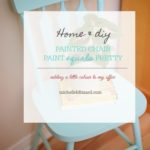 Painted Chair – paint equals pretty